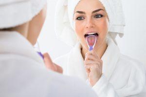 Brushing your tongue